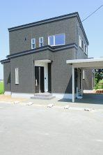 造作食器棚のシンプルモダンハウス ハーバーハウス燕三条支店
