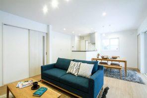 ウッドデッキが外と内を繋ぐ、開放的な明るいテラスリビングのある家 ハーバーハウス燕三条支店
